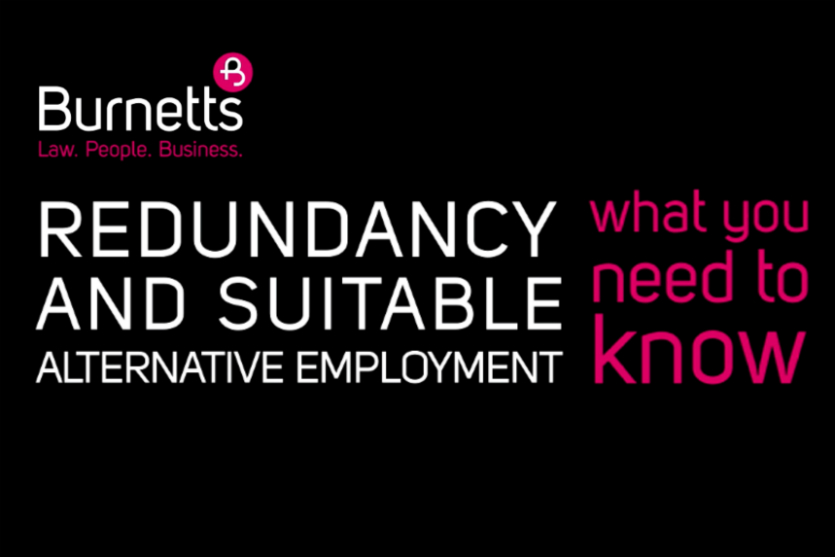 Redundancy and Suitable Alternative Employment: What you need to know (video)
