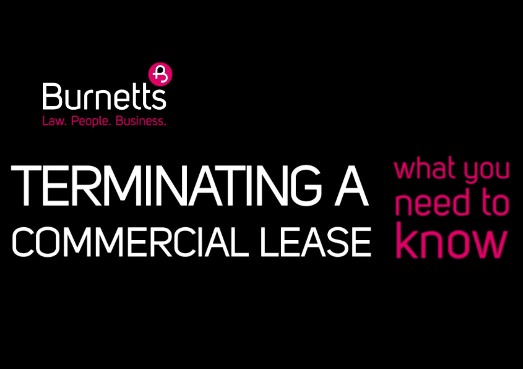 terminate a commercial lease