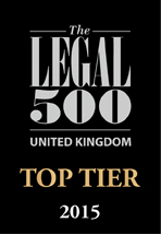Ranked Top Tier by the Legal 500