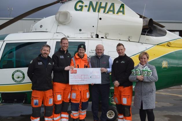 Charity Partnership's £12k Touchdown