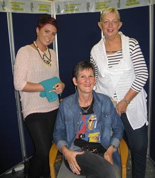 Meggan Murray (L), Glenda Graham (C) and Sandra Telford (R)