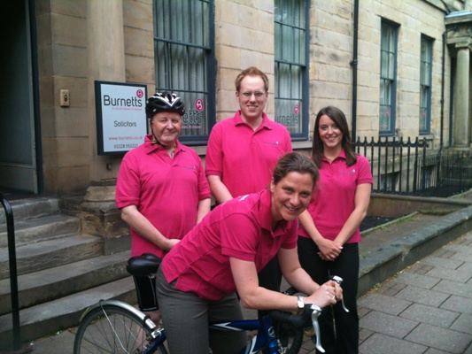 Burnetts' Rivers Ride team